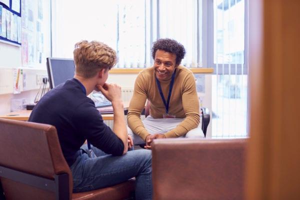 meeting with an academic advisor